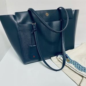 Tory Burch Parker Navy Leather Tote 37169